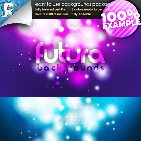 Futura Glow - Easy to use Backgrounds