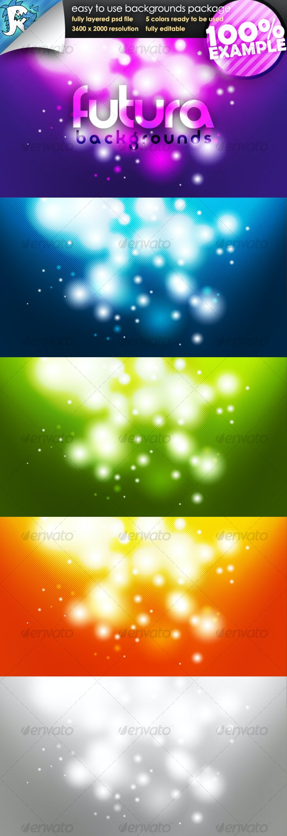 Futura Glow - Easy to use Backgrounds - Backgrounds Graphics