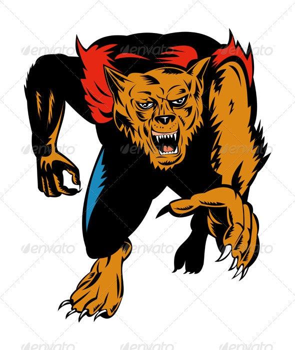 Werewolf Monster - Monsters Characters