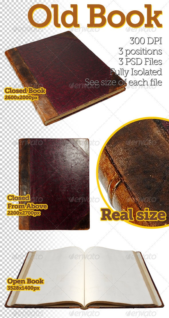 Old Book - Miscellaneous Isolated Objects