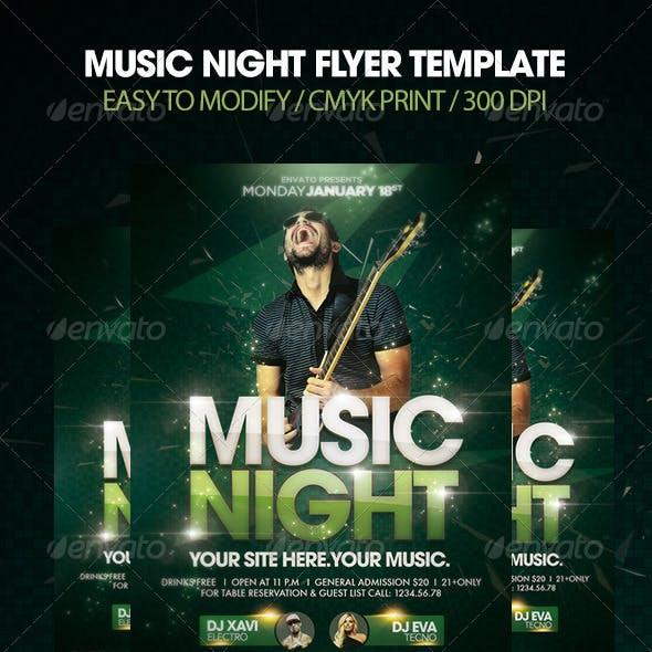 Music Night Flyer