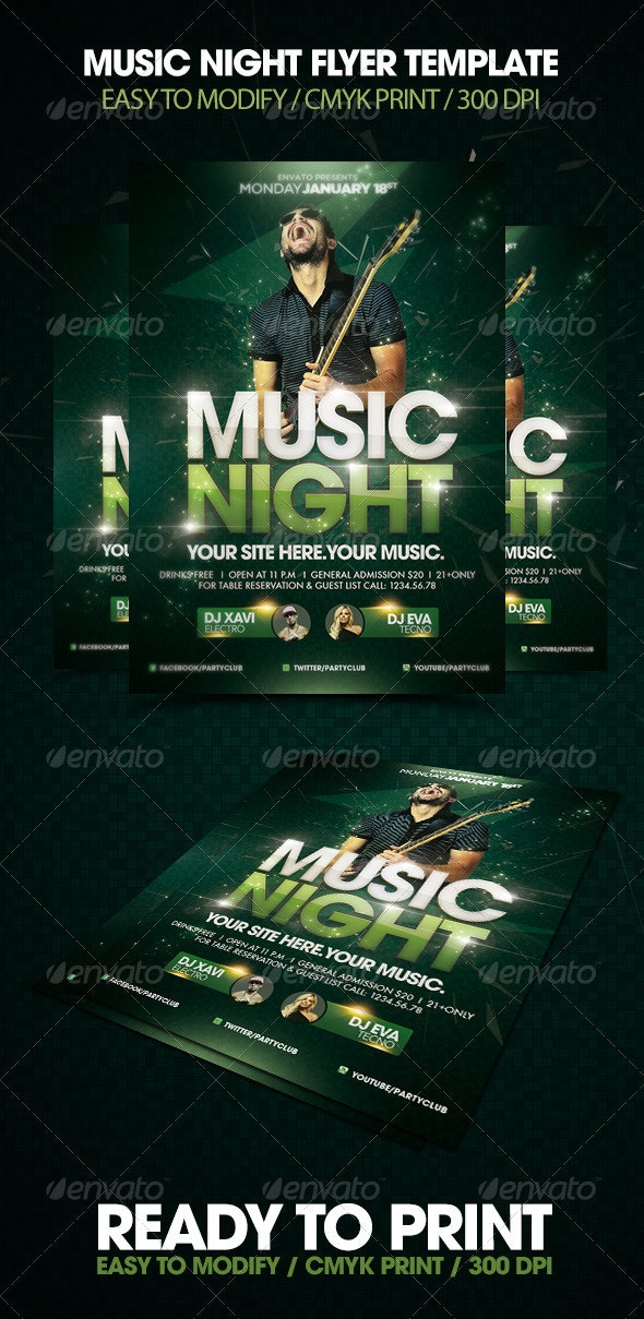 Music Night Flyer - Clubs & Parties Events