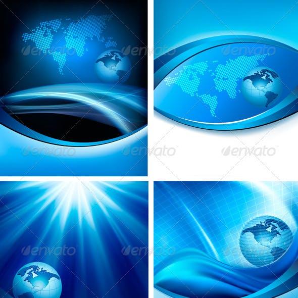 Download 550 Background Ppt Elegan Biru Terbaik