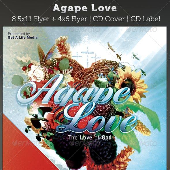 Agape Love Church Flyer and CD Art Template