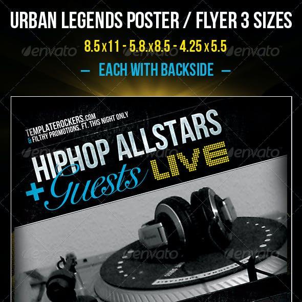 Urban Legends Flyer