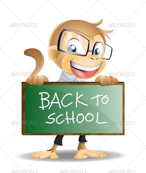 School Monkey - Characters Vectors
