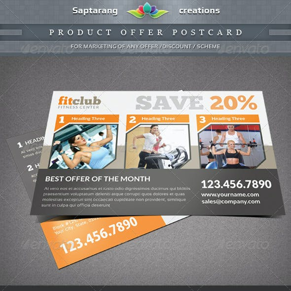 Product Offer Postcard / Flyer