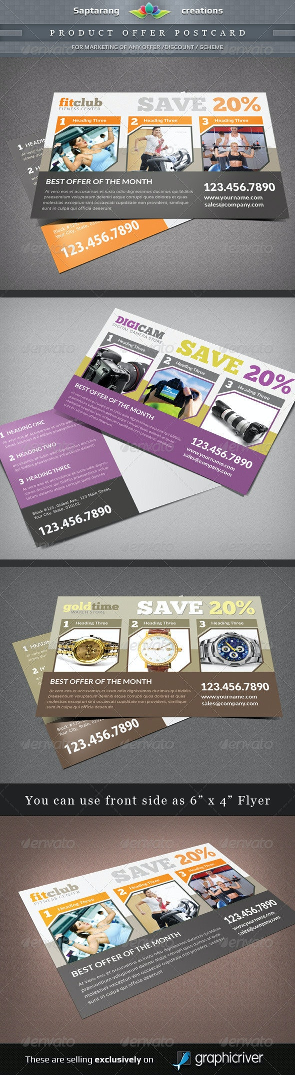 Product Offer Postcard / Flyer - Flyers Print Templates