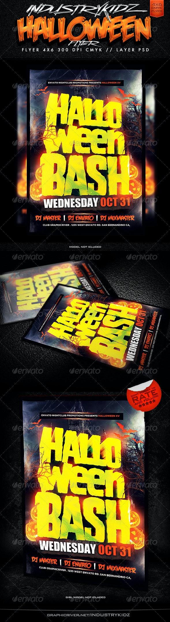 Halloween Bash Flyer Template  - Holidays Events
