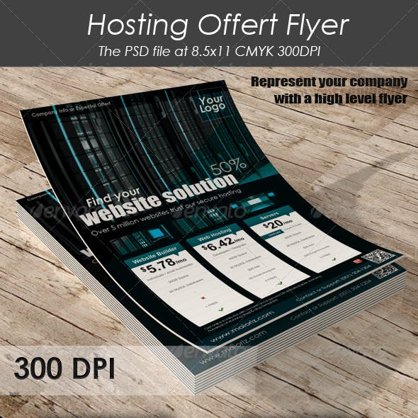 Hosting Offert Flyer