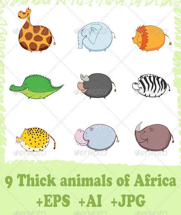 Thick animals of Africa - Animals Characters
