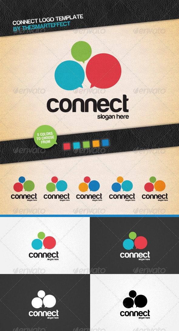 Connect Logo Template - Letters Logo Templates