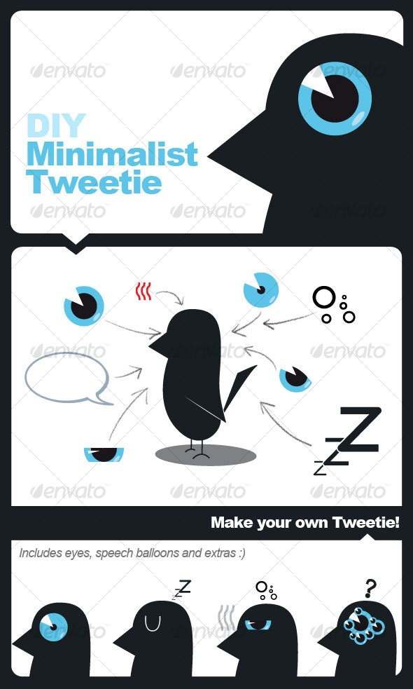 Minimal Tweetie - Animals Characters