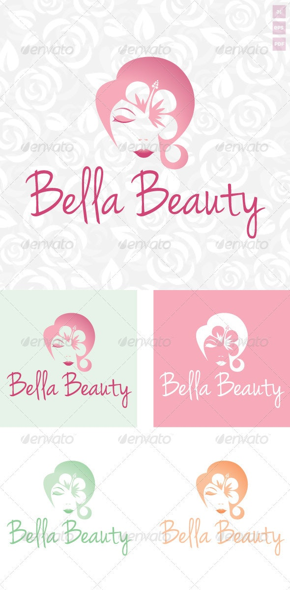 Bella Beauty Logo - Humans Logo Templates