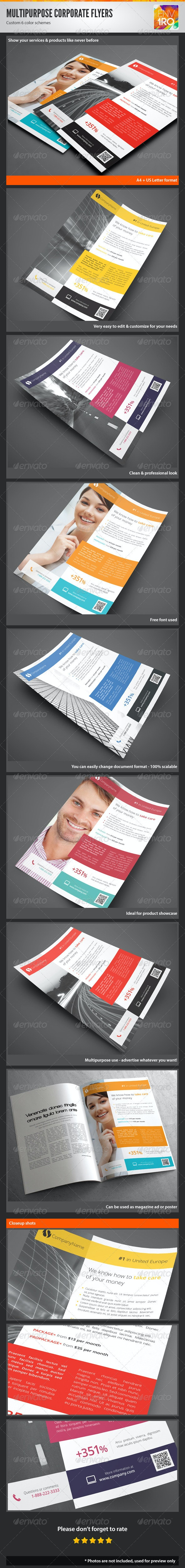 Multipurpose Corporate Flyers, Magazine Ads vol. 6 - Corporate Flyers