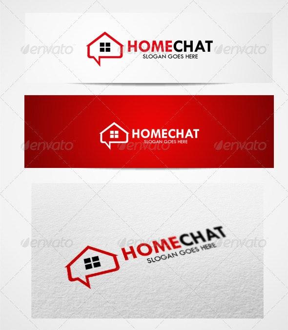 Logo homechat templates - Objects Logo Templates