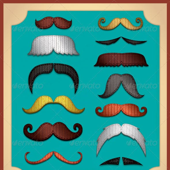 Knitted Moustaches