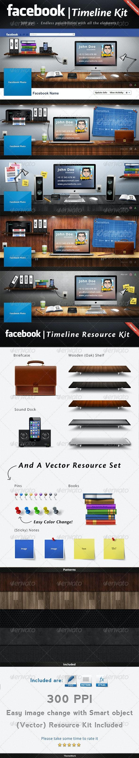 FB Timeline Kit - Social Media Web Elements