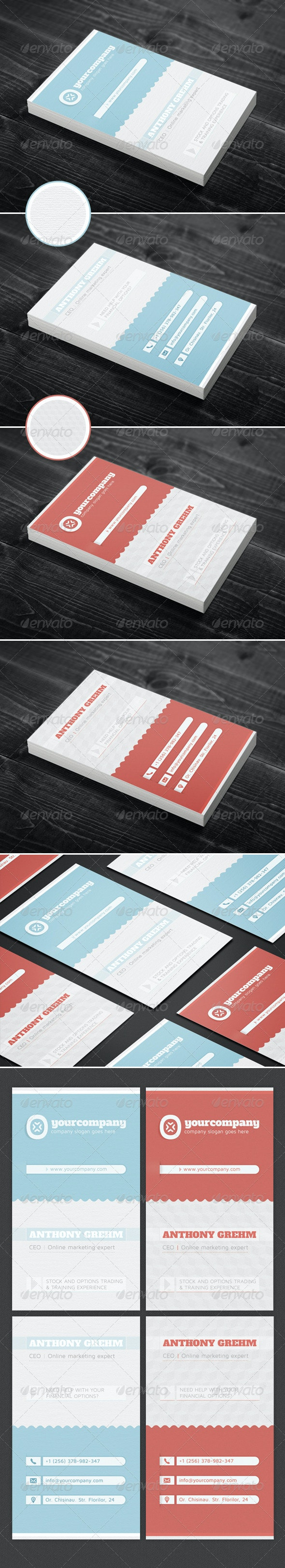 Simple & Clean Corporate Business Card - Creative Business Cards