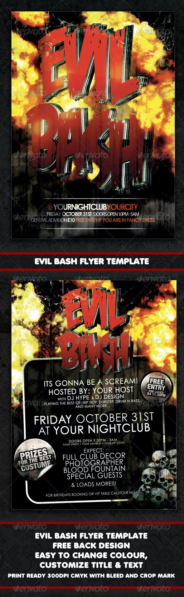 Evil Bash Flyer Or Event Poster Template - Holidays Events