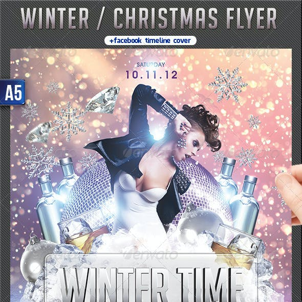 Winter Party Flyer + FB Timeline
