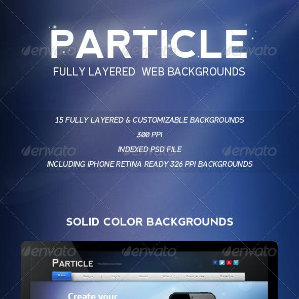 Particle Web Backgrounds