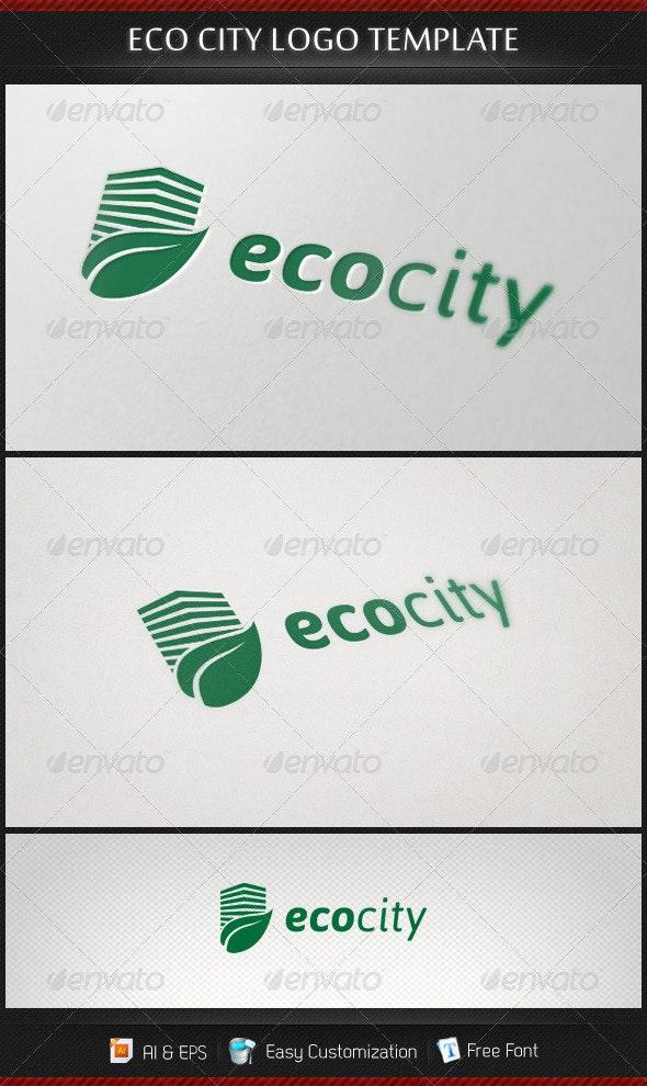 Ecocity Logo Template - Buildings Logo Templates