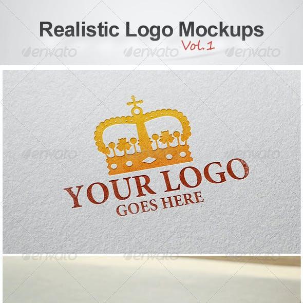 Realistic Logo Mockups Vol.1