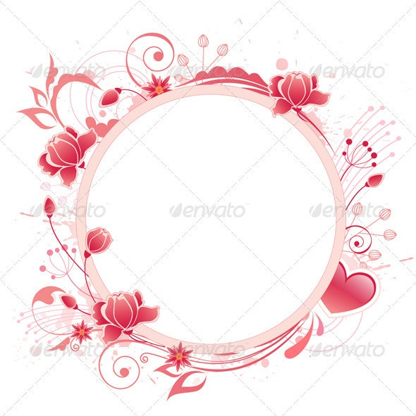Banner with Red Rose - Backgrounds Decorative