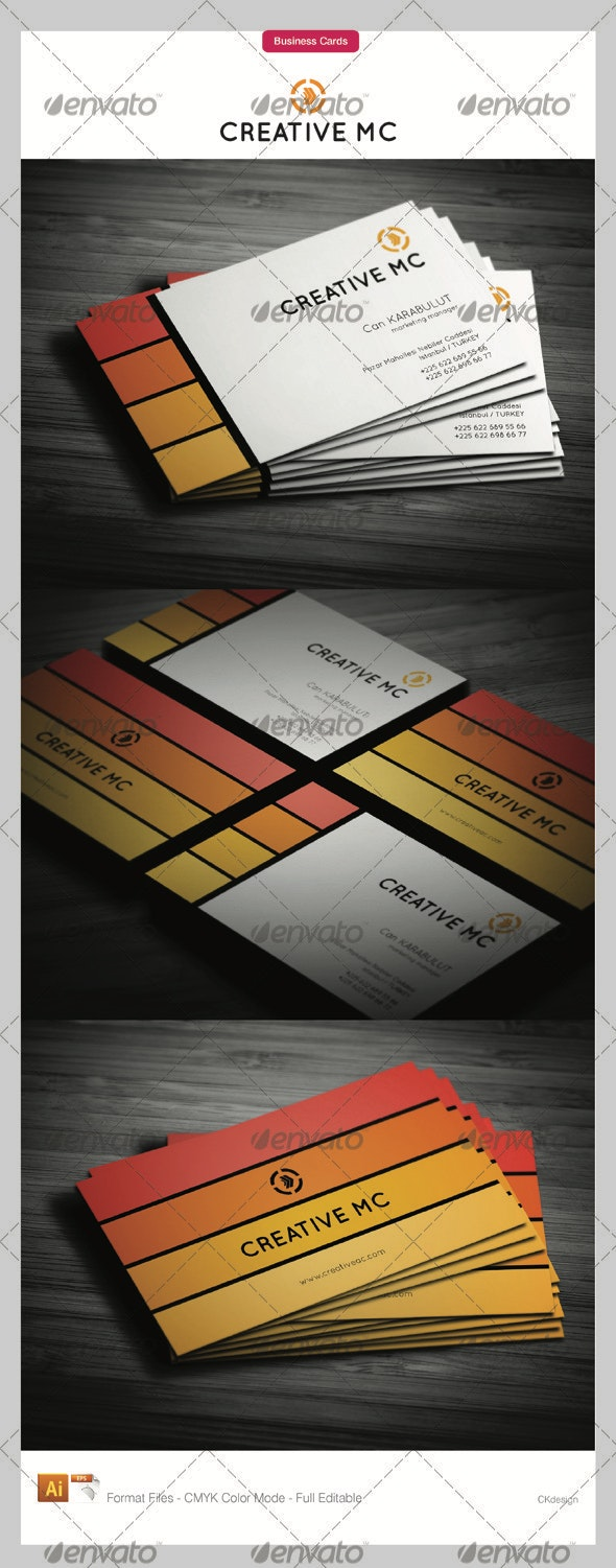 Corporate Business Cards 122 - Creative Business Cards