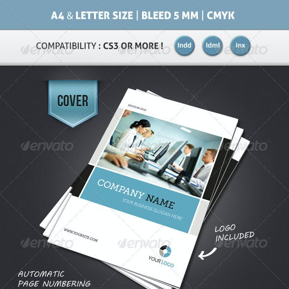 Corporate Brochure Template A4 & Letter 12 Pages