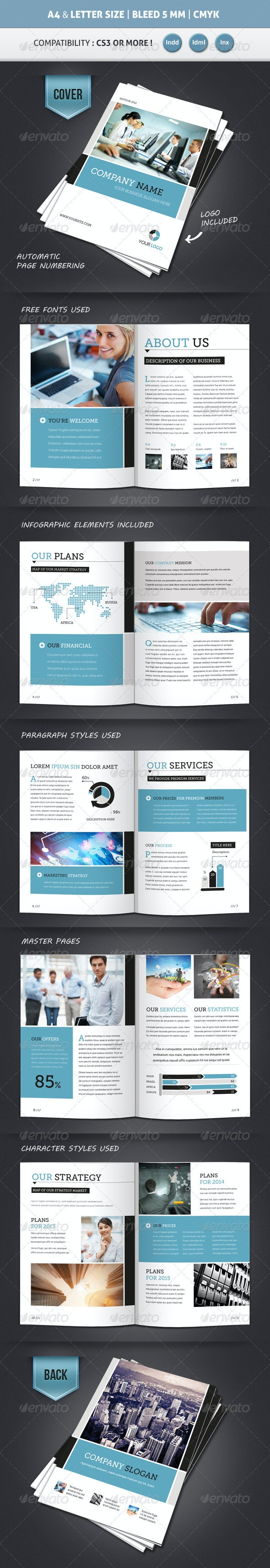 Corporate Brochure Template A4 & Letter 12 Pages - Corporate Brochures