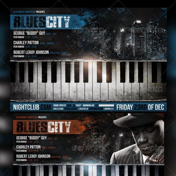 Blues / Jazz Concert Flyer