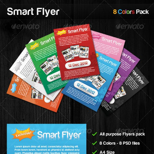 Smart Flyer 8 Colors All purpose flyers pack