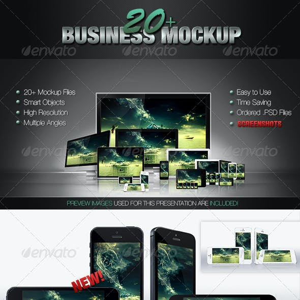 20+ Business Mockups