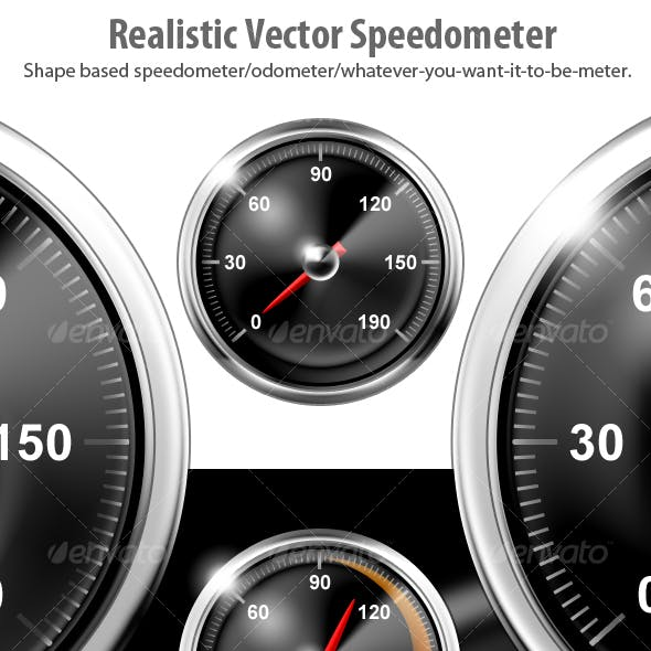 Realistic Vector Speedometers