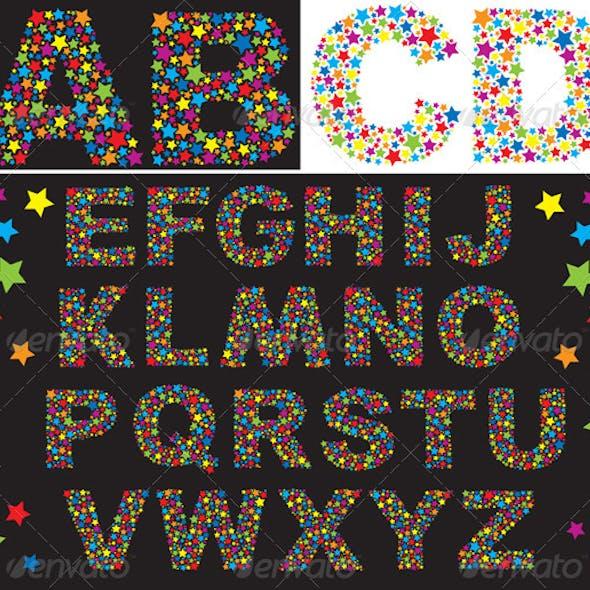Alphabet of Multicolored Stars