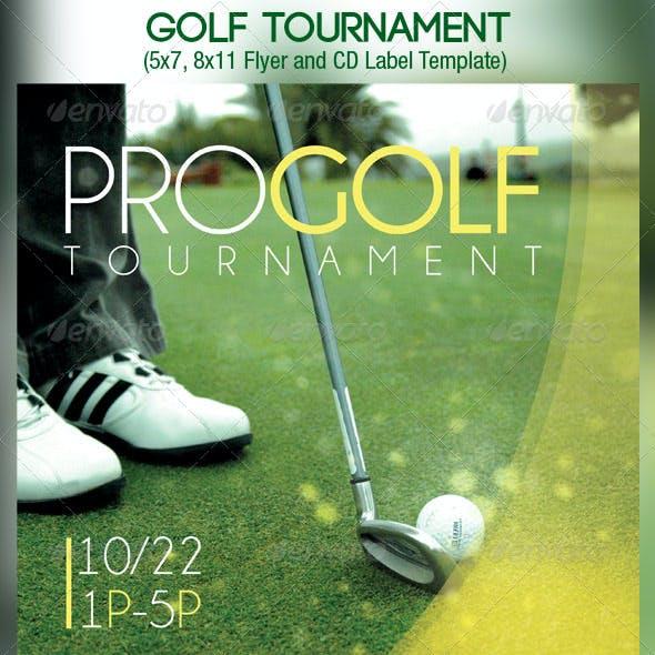 Golf Tournament Event Flyer CD Template