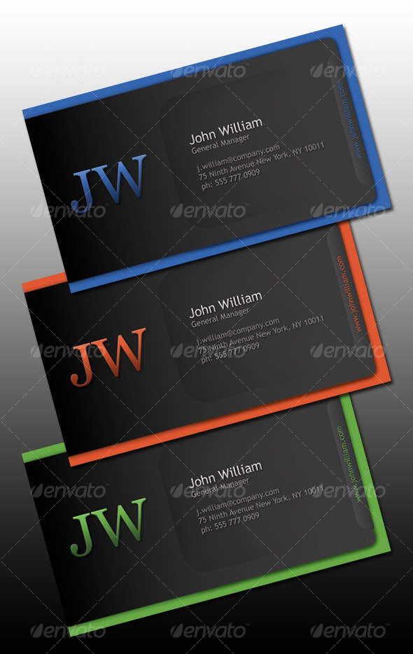 Simple Single Sided Business Card - Corporate Business Cards