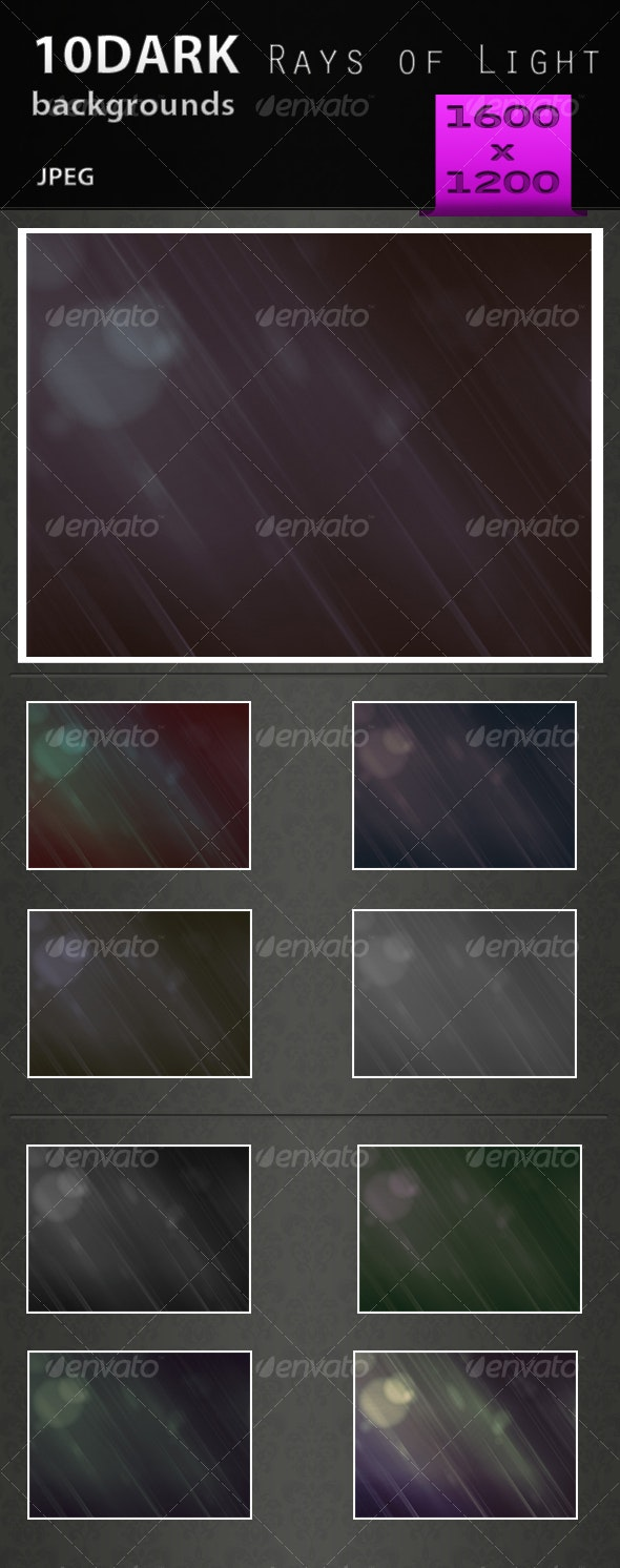 Dark Rays of Light Backgound PACK 1.1 - Backgrounds Graphics