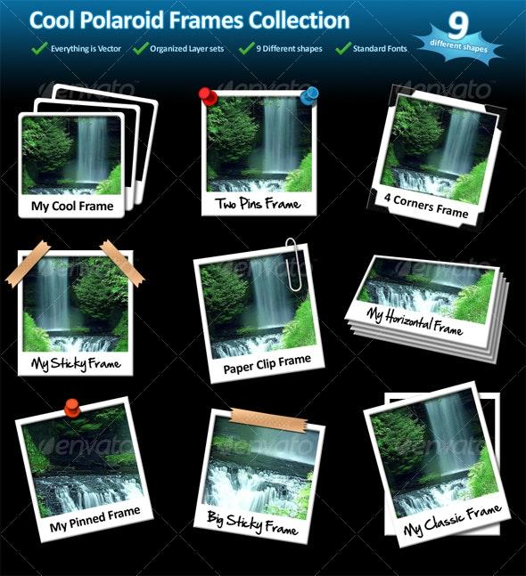 Cool Photo Frames - 9 Different shapes - Miscellaneous Web Elements