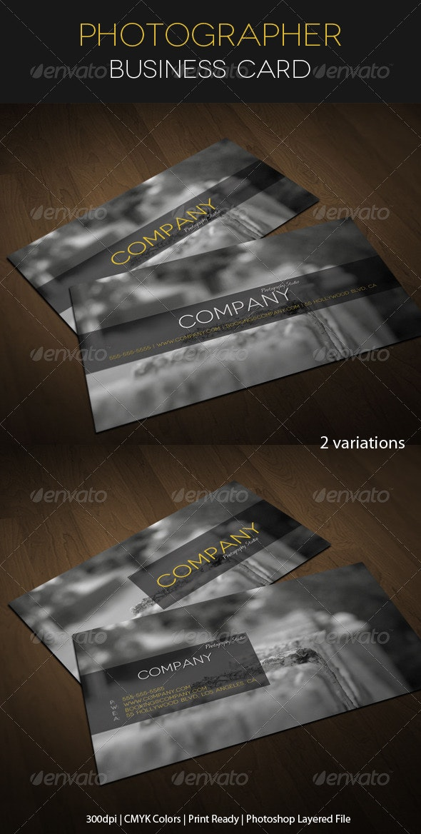 Photographer Business Card - Industry Specific Business Cards