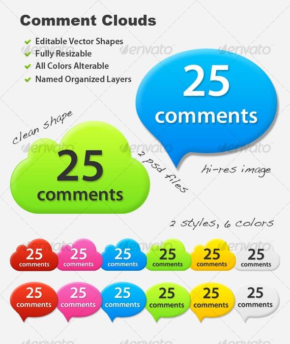 Web Comment Clouds - Miscellaneous Graphics