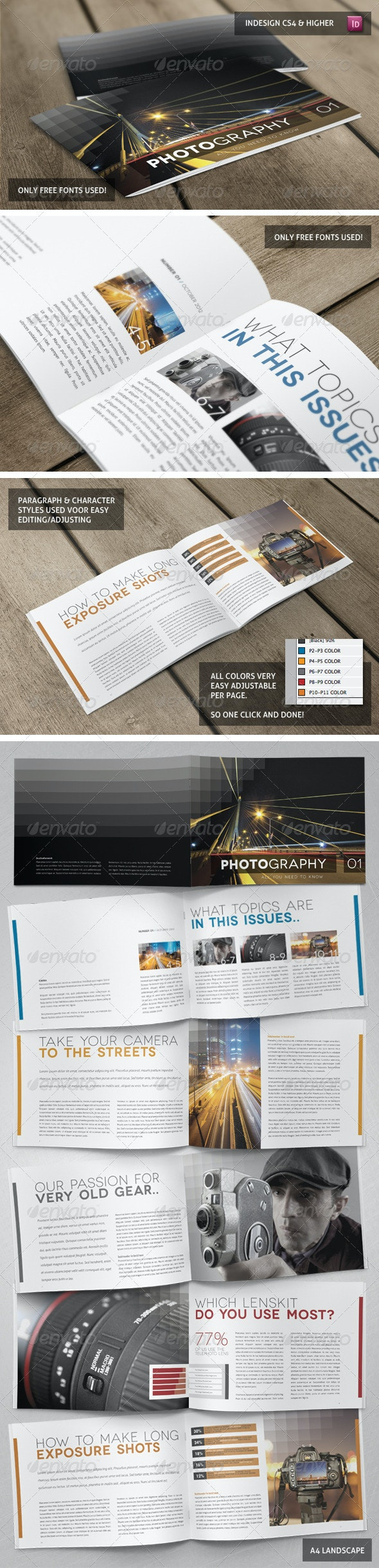 Stylish Clean Booklet - Brochures Print Templates