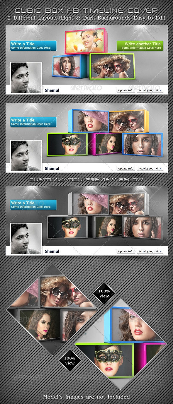 Cubic Box FB Timeline Cover - Facebook Timeline Covers Social Media