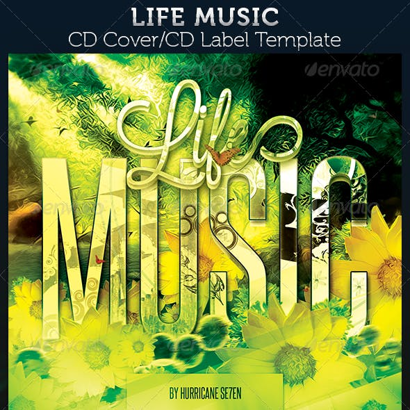 Life Music CD Cover Artwork Template