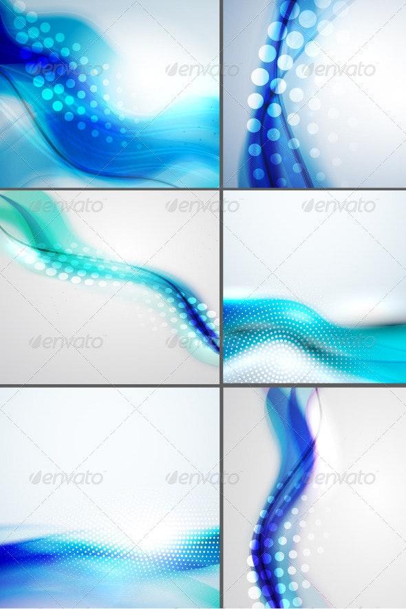 Shiny Blue Wave Backgrounds - Backgrounds Decorative
