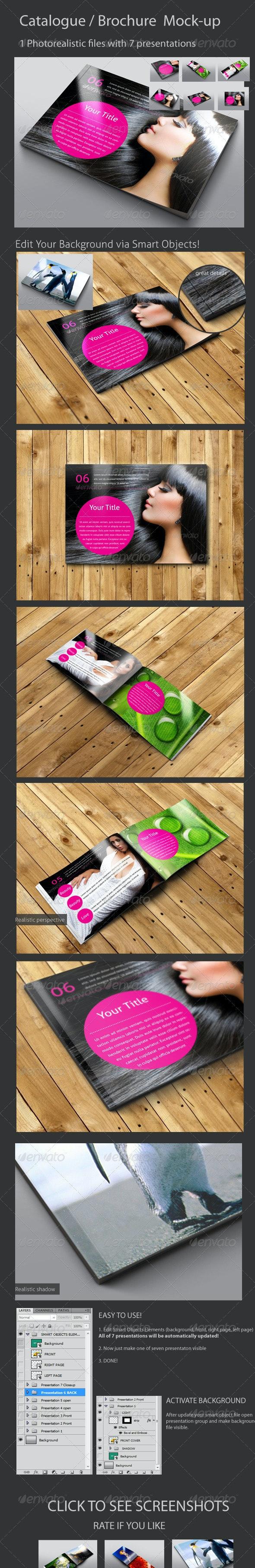 Brochure / Catalog Mock-Up / A6/A5/A4 - Brochures Print