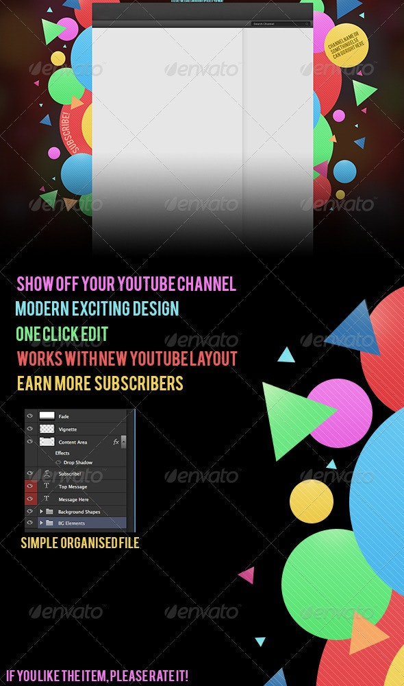 Excited - Youtube Channel Background - YouTube Social Media