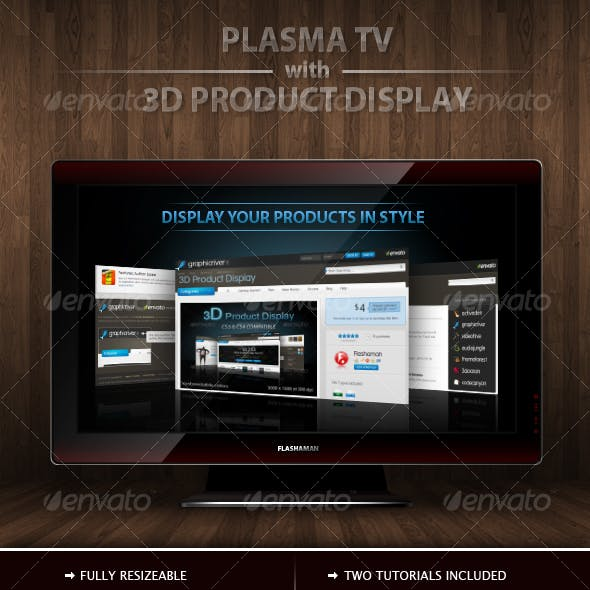 Plasma TV with 3D product Display